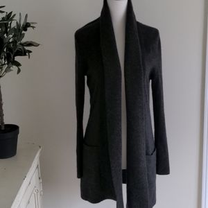 Lord & Taylor Cashmere Long Open Front Cardigan